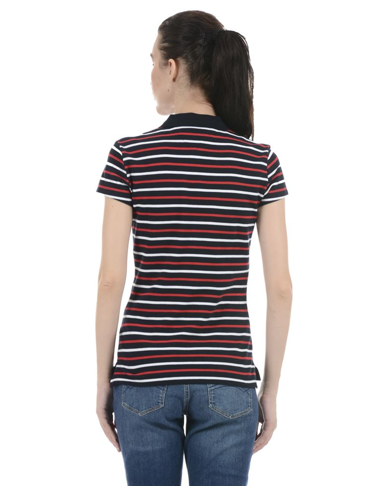 Tommy Hilfiger Women Casual Wear Multicolor T-Shirt
