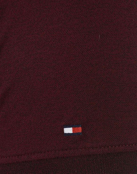 Tommy Hilfiger Men Casual Wear Maroon T-Shirt