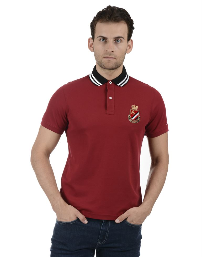 Tommy Hilfiger Men Casual Wear Red T-Shirt