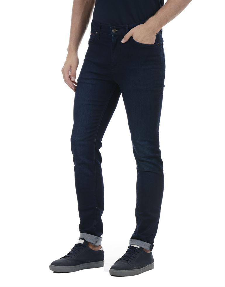 Tommy Hilfiger Men Casual Wear Navy Blue Jeans