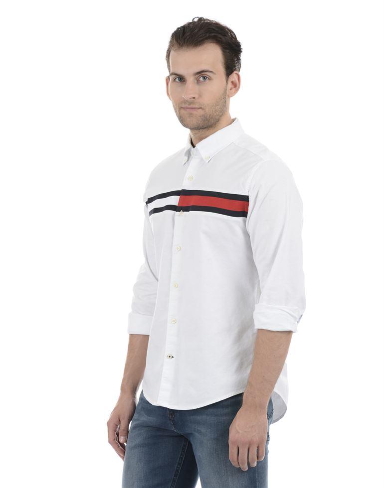 Tommy Hilfiger Men Casual Wear White Shirt