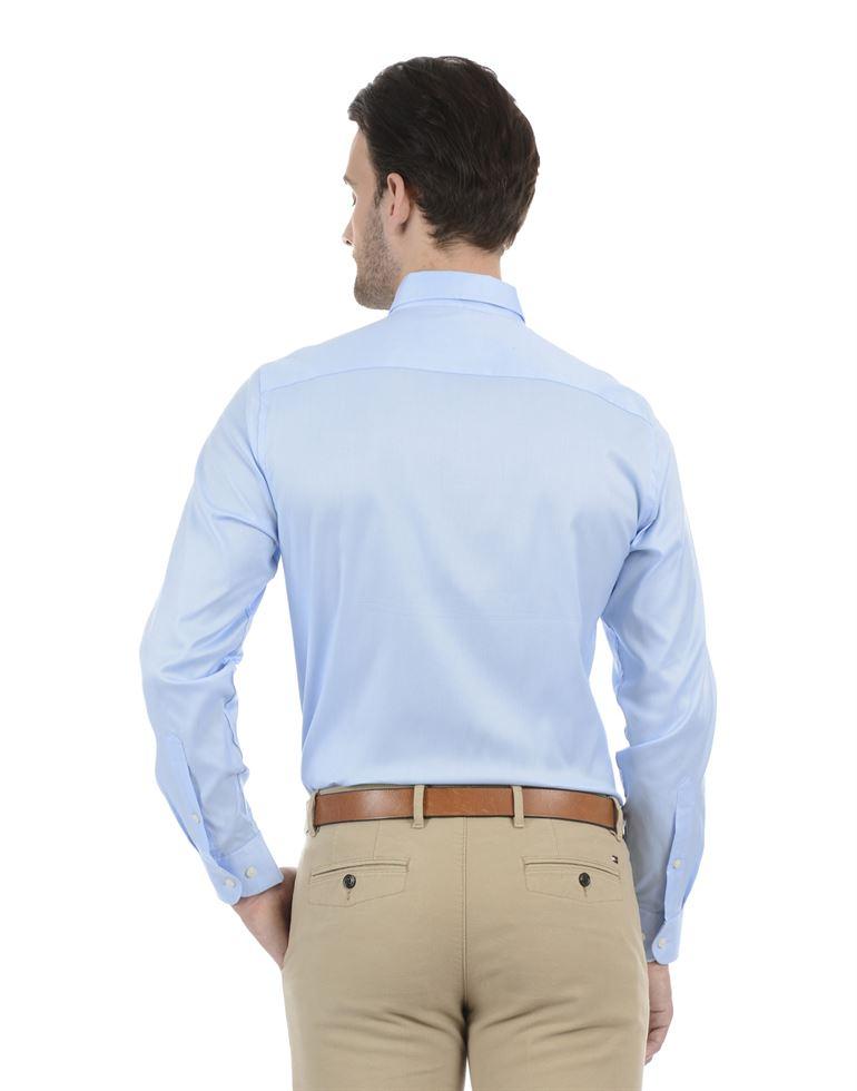 Tommy Hilfiger Men Formal Wear Sky Blue Shirt