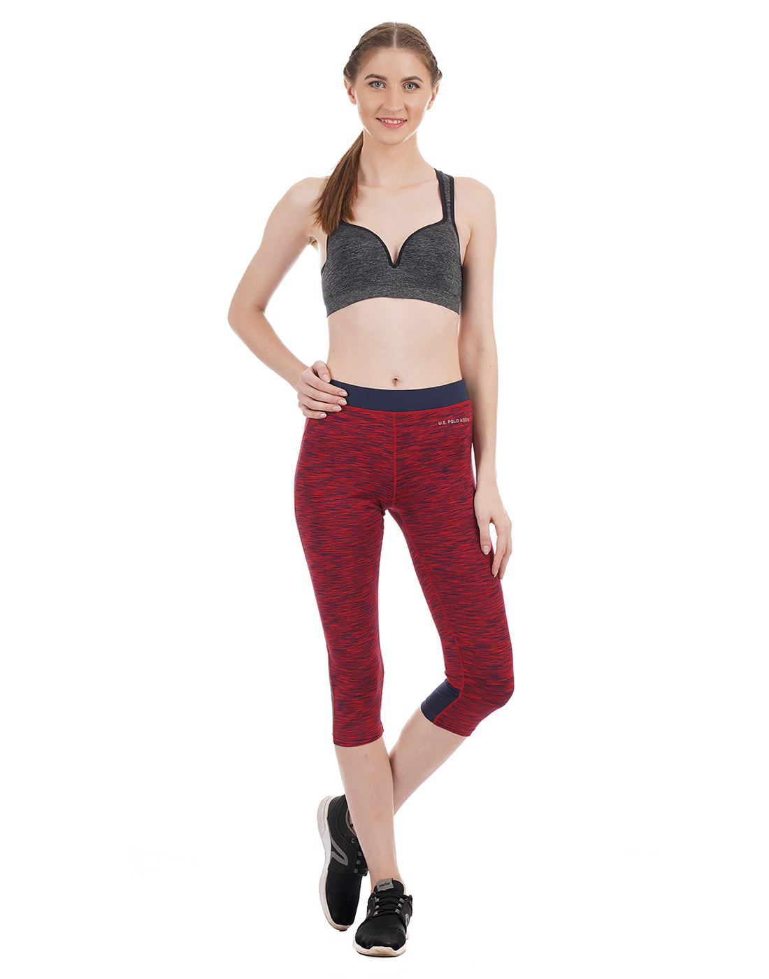 U.S. Polo Assn. Women Casual Wear Textured Gym Tight