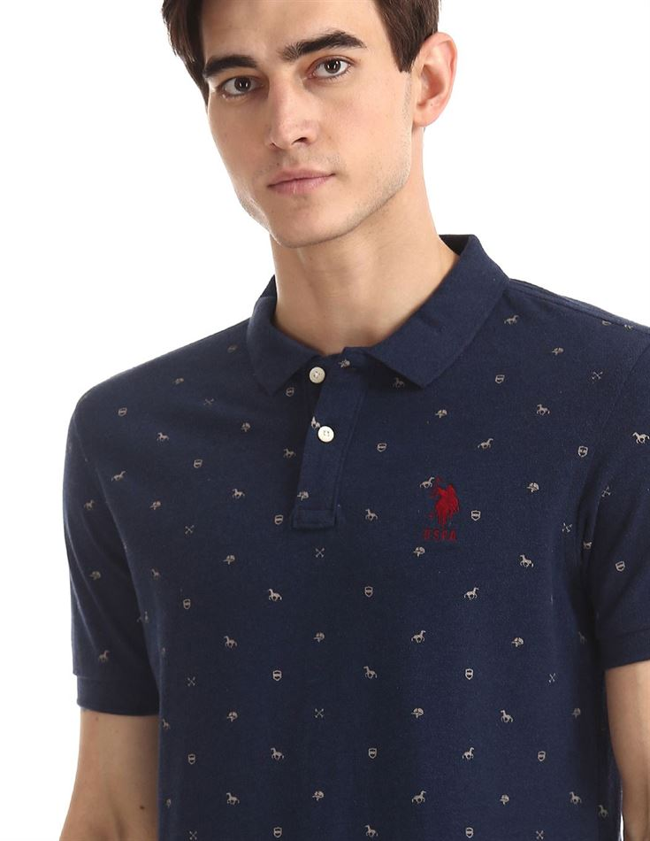 U.S. Polo Assn. Men Printed Casual Wear T-Shirt