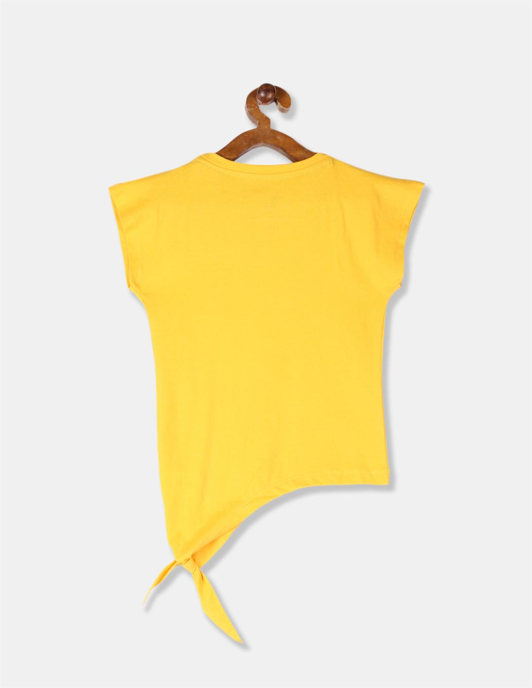 U.S Polo Assn. Girls Embellished Yellow T-Shirt
