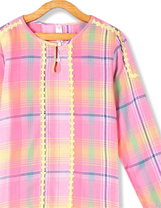 U.S. Polo Assn. Girls Casual Wear Checkered Top