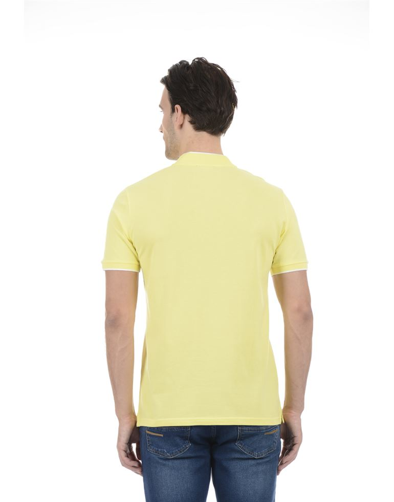 United Colors of Benetton Men Casual Wear SOlid Yellow T-Shirt