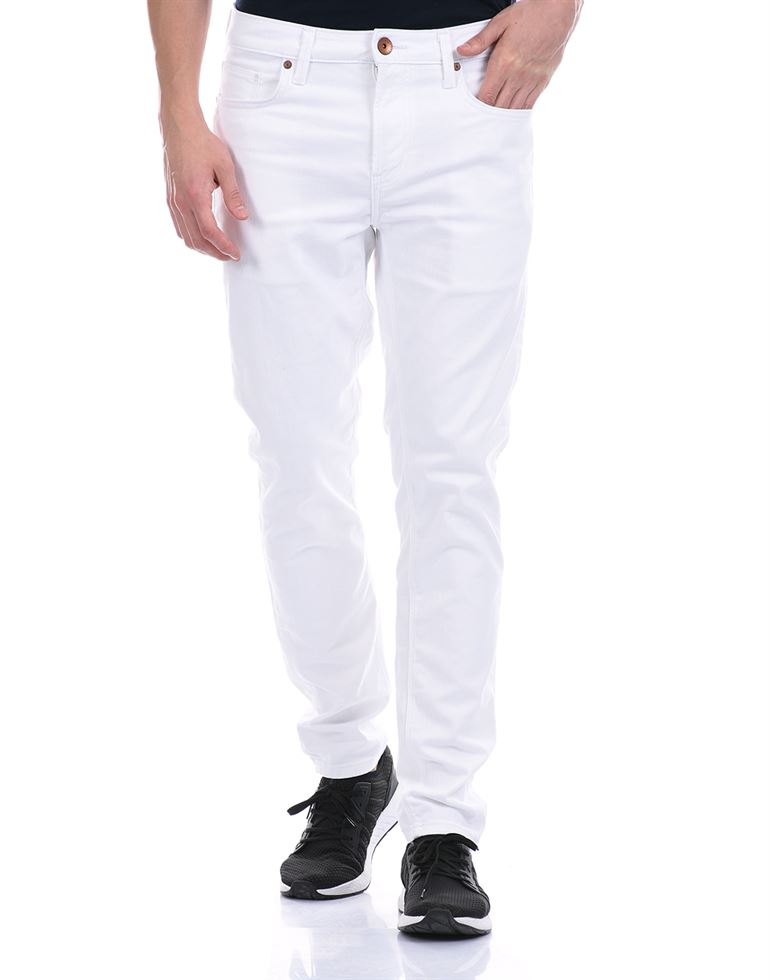 United Colors of Benetton Men Casual Wear White Jeans