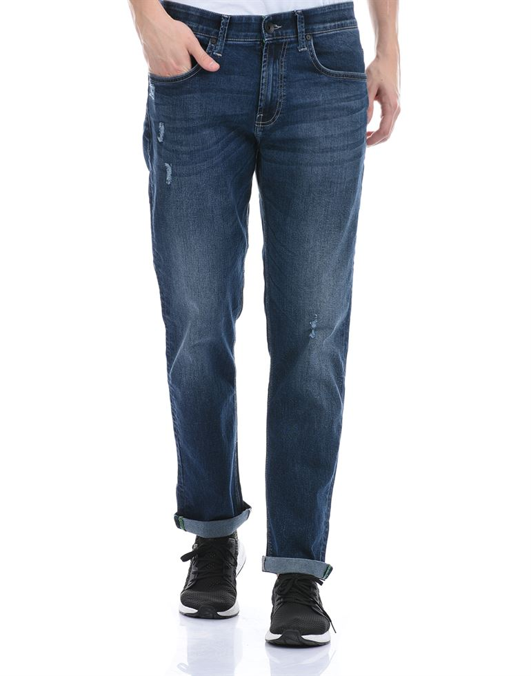 United Colors of Benetton Men Casual Wear Dark Blue Jeans