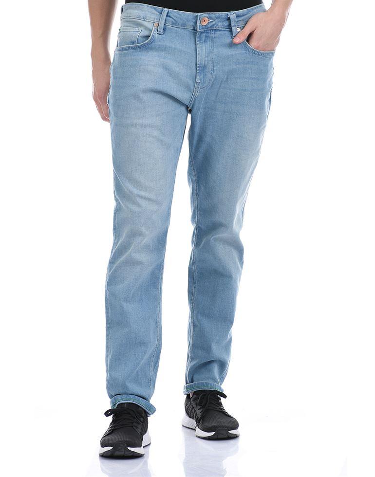 United Colors of Benetton Men Casual Wear Sky Blue Jeans