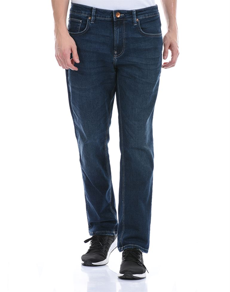 United Colors of Benetton Men Casual Wear Navy Blue Jeans