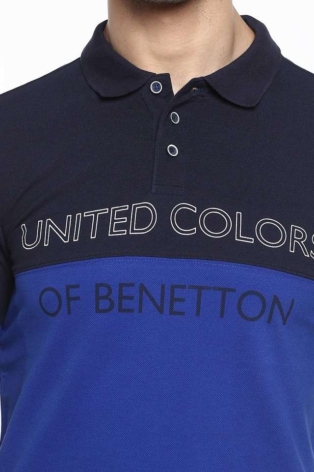 United Colors of Benetton Men Casual Wear Solid T-Shirt