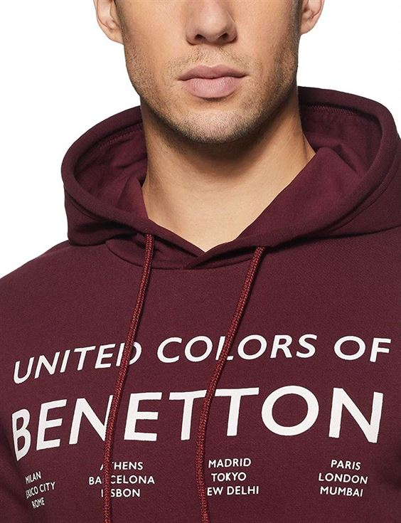 United Colors of Benetton Men Casual Wear Graphic Print Sweatshirt