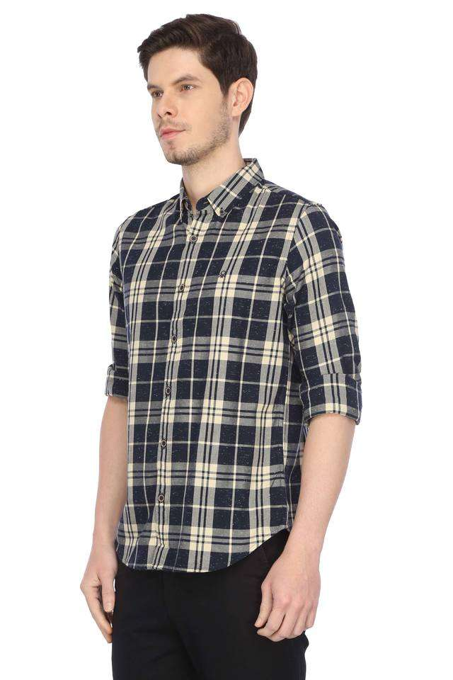 United Colors of Benetton Men Casual Wear Checkered Shirt