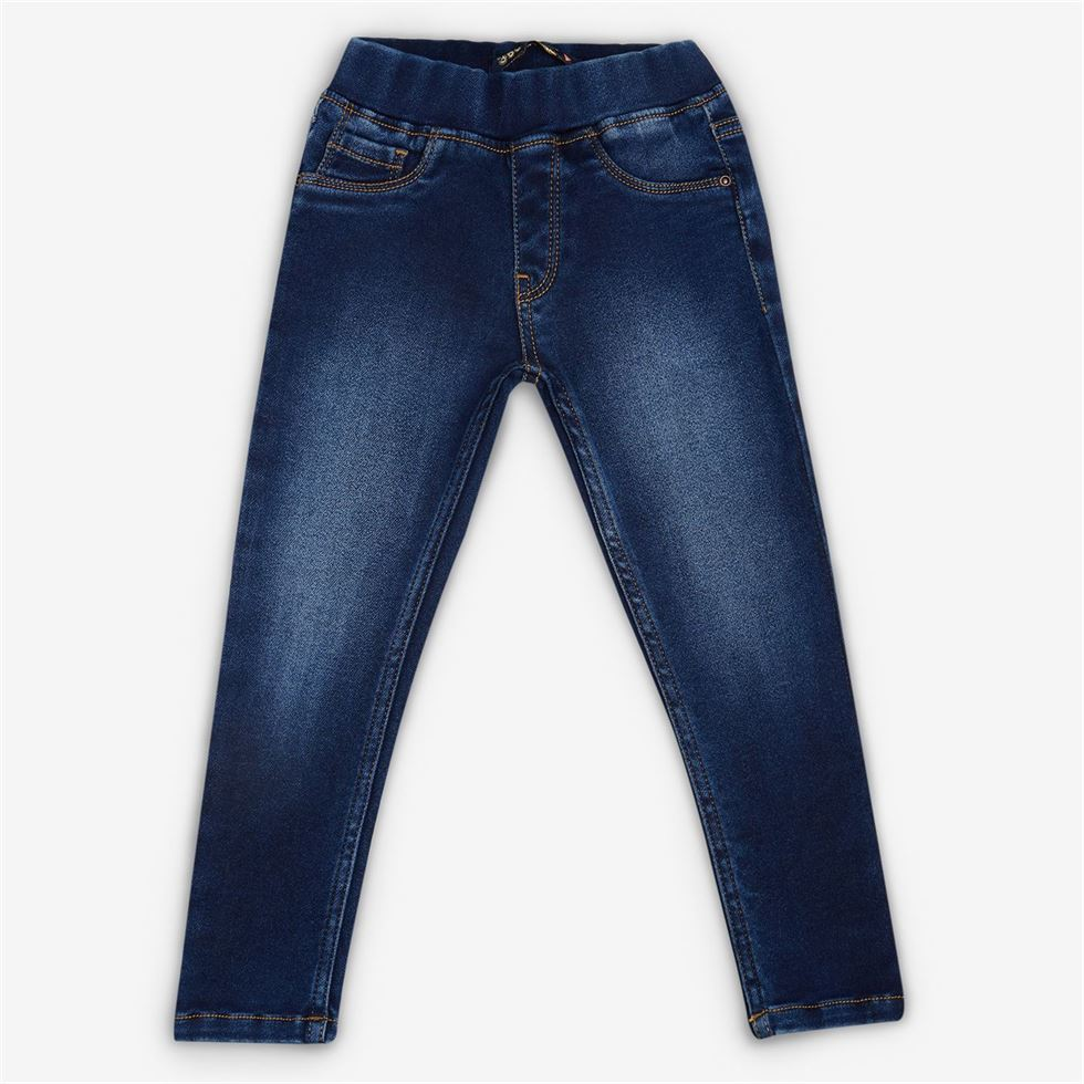 Vitamins Blue Solid Jegging For Girls