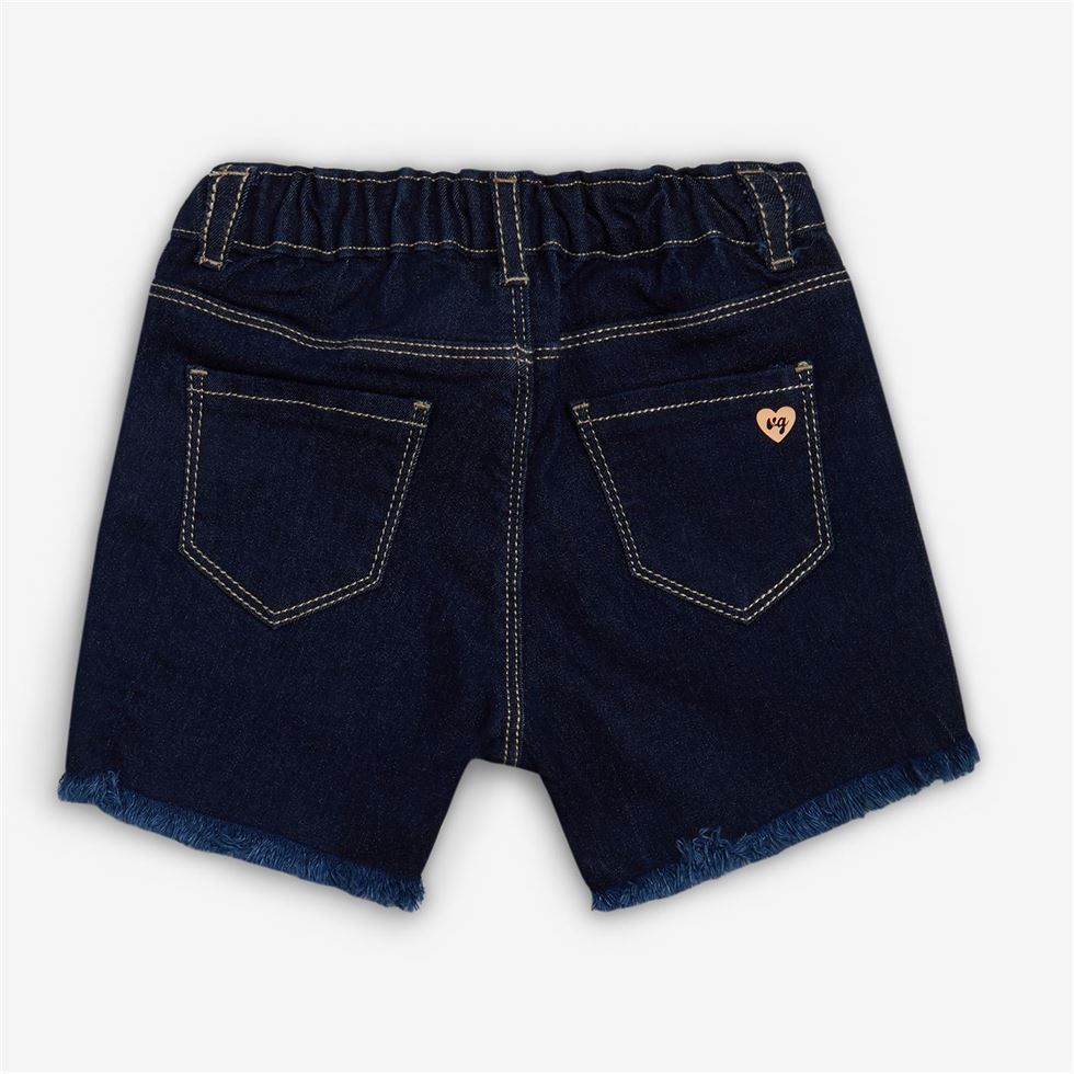 Vitamins Blue Striped Shorts For Girls