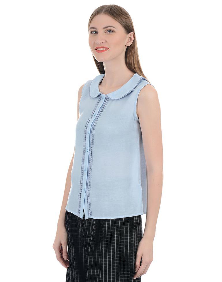 Zink London Women Casual Wear Solid Shirt