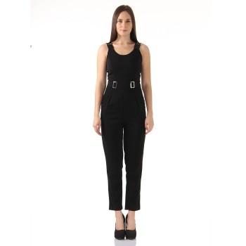 Ax Paris Women Casual Wear Black Jump Suit
