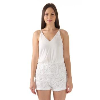 Ax Paris Women Casual Wear White Play Suit