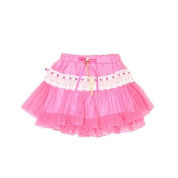 Actuel Girls Casual Wear Pink Skirt