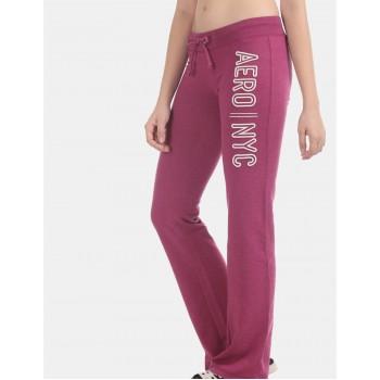 Aeropostale Women Casual Wear Purple Track Pant