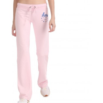 Aeropostale Women Casual Wear Pink Track Pant