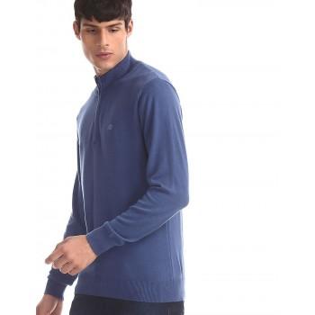 Aeropostale Men Casual Wear Solid Sweatshirt
