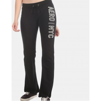 Aeropostale Women Casual Wear Black Track Pant