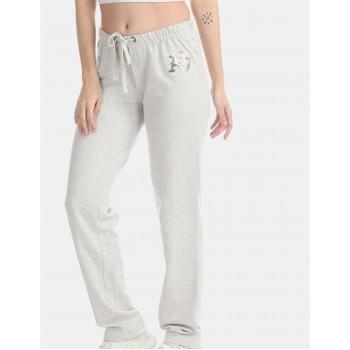 Aeropostale Women Casual Wear Grey Track Pant