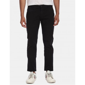 Aeroppostale Men Casual Wear Black Casual Trouser