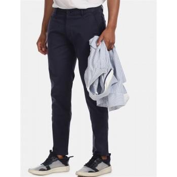 Aeroppostale Men Casual Wear Blue Casual Trouser