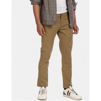 Aeroppostale Men Casual Wear Khaki Casual Trouser