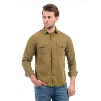 Aeropostale Men Solid Casual wear Shirt