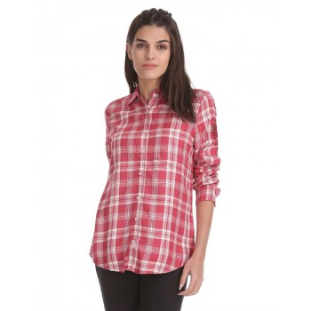 Aeropostale Women Casual Wear Red Shirt