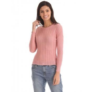 Aeropostale Women Casual Wear Pink  Sweater