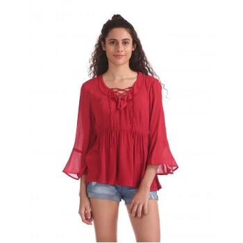 Aeropostale Women Casual Wear Red Top