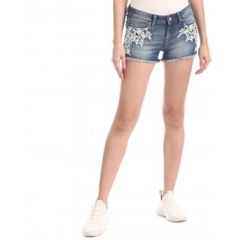 Aeropostale Women Casual Wear Blue Shorts