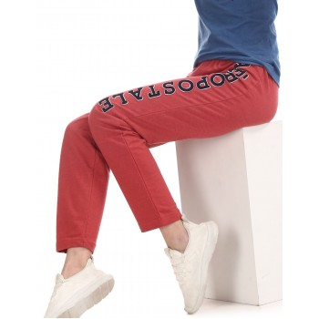 Aeropostale Women Casual Wear Red Track Pant