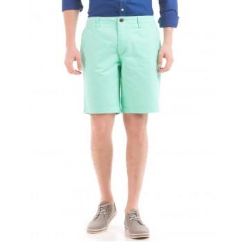 Aeropostale Men Casual Wear Green Shorts