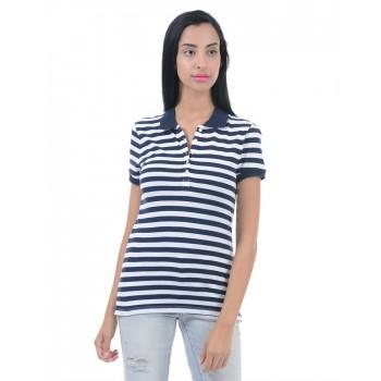 Aeropostale Women Casual Wear Striped T-shirt