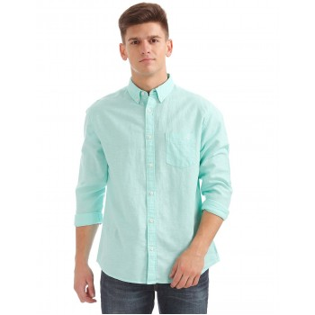 Aeropostale Men Casual Wear Solid Shirt