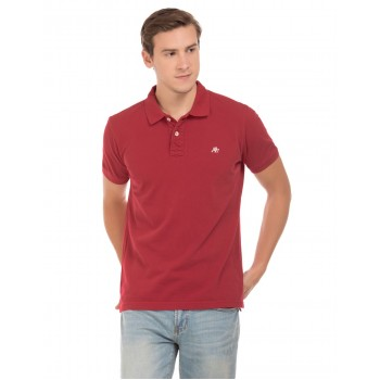 Aeropostale Men Casual Wear Solid Polo T-Shirt