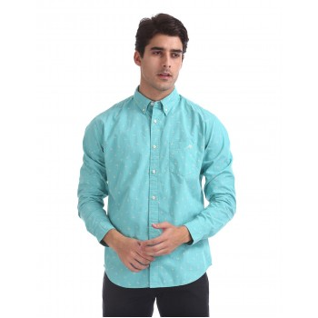 Aeropostale Men Casual Wear Printed Shirt