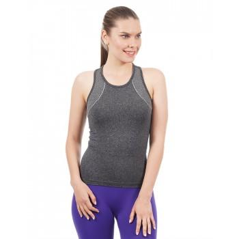 Amante Women Sports Wear Self Design Tank Top