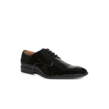 Arrow Footwear Men Black Lace Up Oxford Shoes