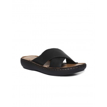 Arrow Footwear Men Black Slip On Slides