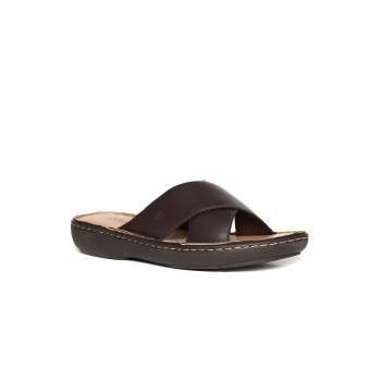 Arrow Footwear Men Brown Slip On Slides