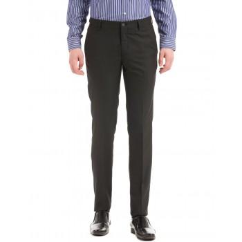 Arrow New York Men Casual Wear Solid Trouser