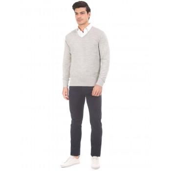 Arrow Men Casual Wear Self Design Sweatshirt