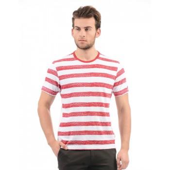 Arrow Sport Men Casual Wear Striped T-Shirt